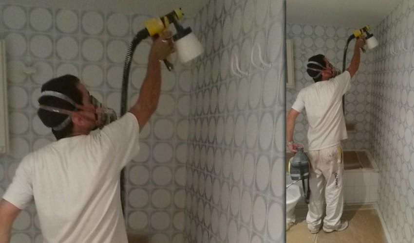 marc pintando-un-baño