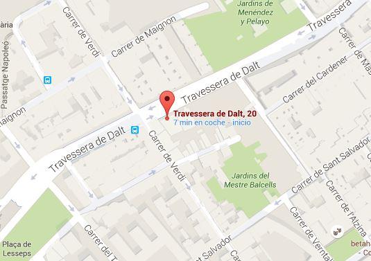 Mapa Pintor Barcelona